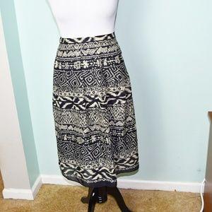 Stunning Tan and Black Print Skirt